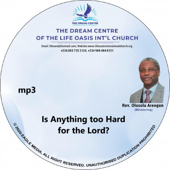 Is Anything too Hard for the Lord - mp3